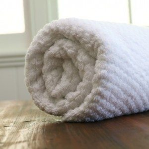 Cotton balls towel