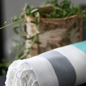 Summer Bright organic hand loomed towel