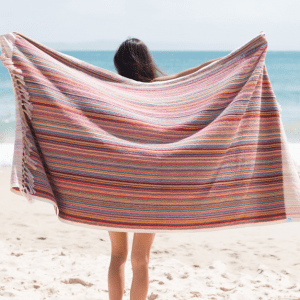 Striped Bells Beach Towel