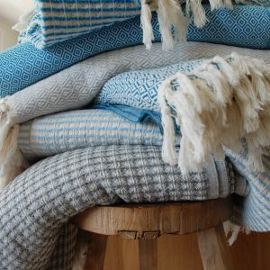 On the bay handwoven throw