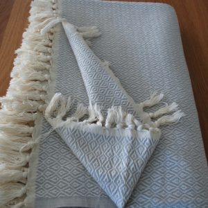 Tear Drop handwoven throw