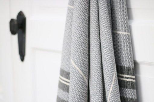 Simit Peshtemal Grey intricate design