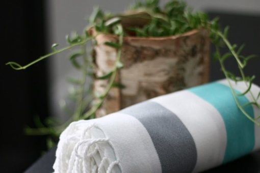 Summer Bright organic hand loomed towel