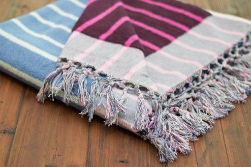 striped bath sheet