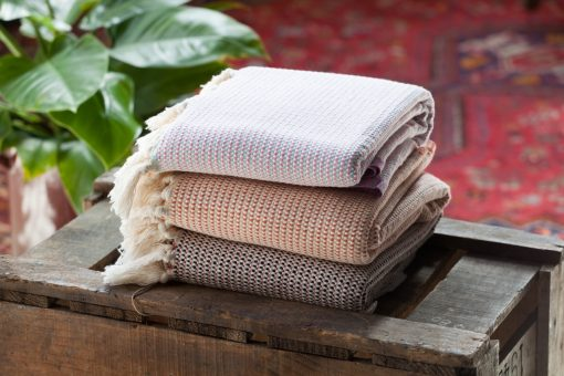 Sorrento Pestemal towels, a mid weight organic cotton towel