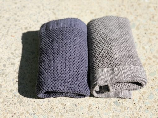 Vintage waffle hand towel made in Japan by Kontex