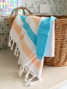 Kaleidoscope Organic cotton hand towel