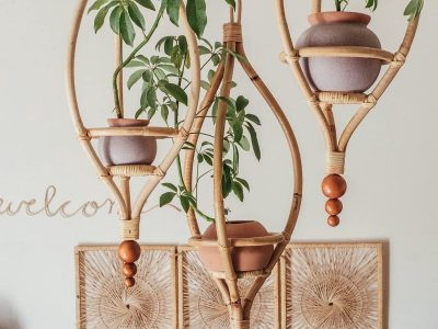 Rattan Hanging planters