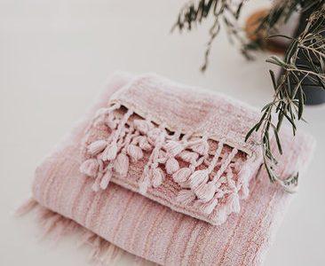 Sherbet pink bath towel