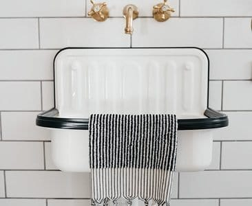 Monochrome stripped handtowel