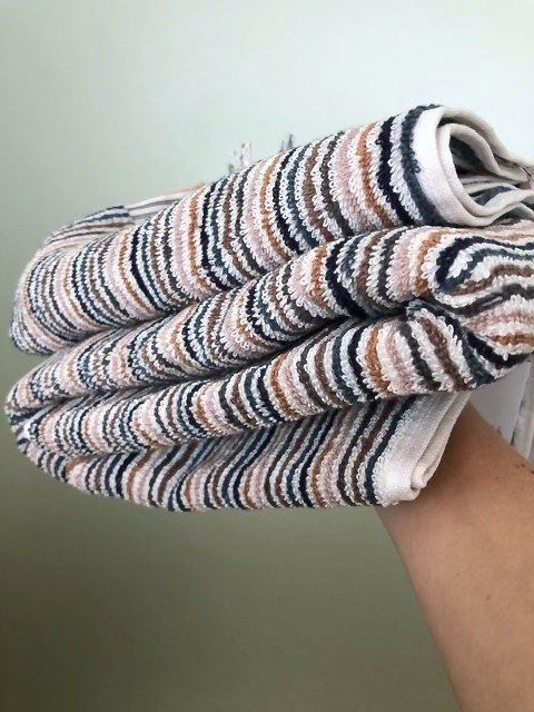 Alice multi stripe towels by Citta